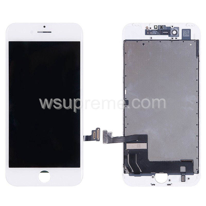 iPhone 7 LCD Screen and Digitizer Assembly with Frame Replacement - White