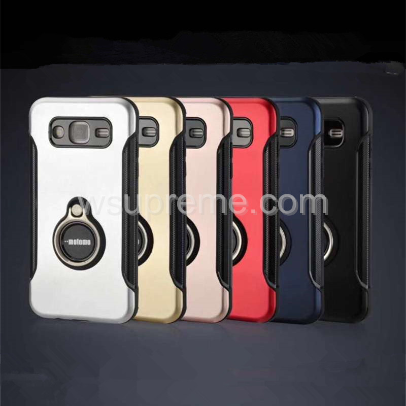 MOTOMO The new 360 Ring Stand Armor TPU+Metal Phone Case