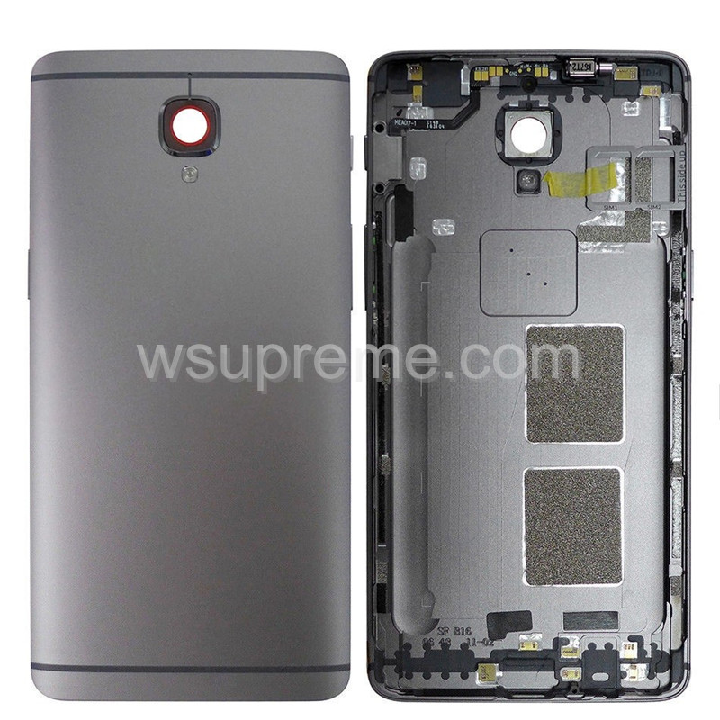 OnePlus 3/3T Battery Cover With Side Keys Replacement - Gray