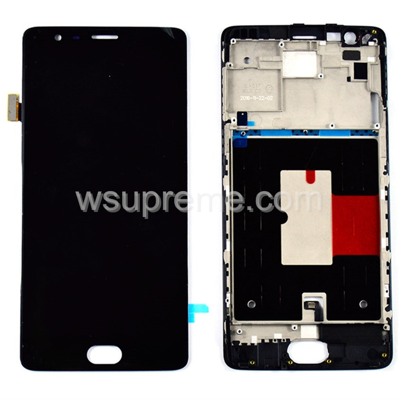 OnePlus 3 LCD Screen and Digitizer Assembly with Frame Replacement -​ Black